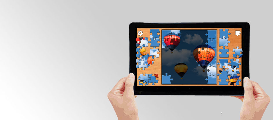 Jigsaw Puzzles on Tablet PC for Seniors